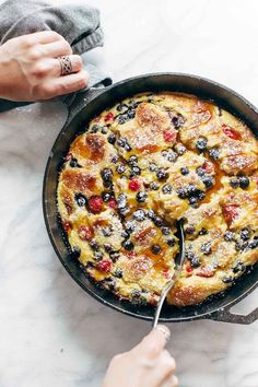 French Toast Casserole (!!) featuring creamy ricotta cheese, fresh summer berries, and homemade brioche. Cause all we do is win win win no matter what! You're gonna love it.  Oh sweet baking! How I lo