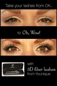 What are you waiting for? Order your mascara from younique today! 3d Mascara, 3d Fiber Lashes, 3d Fiber Lash Mascara, Best Mascara, Younique, Fake Lashes, False Eyelashes, 3 D, Beauty Tips