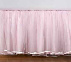 pink tutu bed skirt.