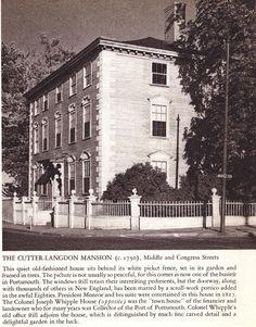 Cutter-Langdon Mansion Portsmouth NH 1940