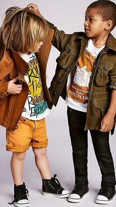 Is your little boy ready for fall?  It's all about colored jeans, graphic t-shirts and jackets. Oh, and chucks!