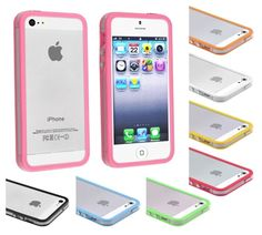 Bumper Case iPhone 5 5s transparent side cover metal buttons colorful light thin #UnbrandedGeneric