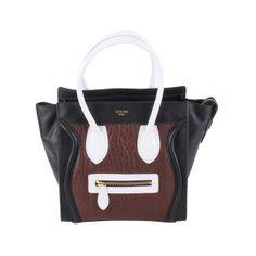 b10f34cfcd Celine Boston Smile Tote Handbag 98167 black with coffee - CELINE handbags  - Replica Handbags