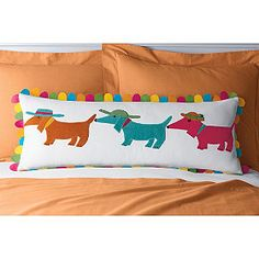 Summer Dogs Pillow Cover