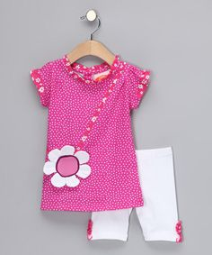 Take a look at this Pink Daisy Tunic & Shorts - Infant, Toddler & Girls by P.S. by Sweet Potatoes on #zulily today!