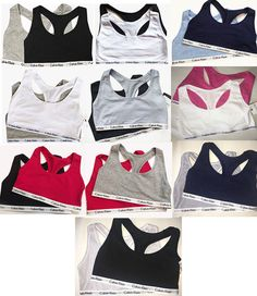f23ef0acf0 Sports Bras 185083  Nwt Calvin Klein Women S Bralette Sports Bra Top Set Of  2 Sizes S