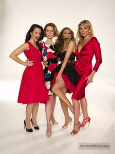 Sex and the City - Promo shot of Sarah Jessica Parker, Cynthia Nixon, Kristin Davis & Kim Cattrall