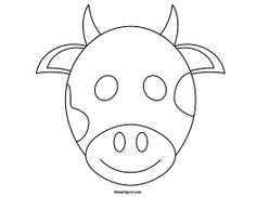 Printable Cow Mask To Color