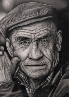 Related images of pencil drawing expressions angry man. Realistic Pencil Drawings, Pencil Drawing Tutorials, Amazing Drawings, Pencil Art Drawings, Drawing Sketches, Sketching, Old Man Portrait, Foto Portrait, Pencil Portrait