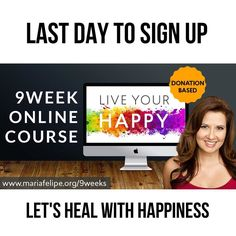 Sign up for my wife's @revmariafelipe  Free online course - yay!  HERE'S THE LINK: http://ift.tt/2u17QAP  So this is what Live Your Happy Online Course is about:  IN 9 WEEKS we'll do a deep dive into inner wisdom happiness & peace I walk WITH YOU through the book with 9 weekly LIVE-Video-Conferences. Weekly Homework & Classes   1on1 Accountability System  What YOU'LL LEARN  WEEK 1 How to Turn your Biggest Problems into your Biggest Happiness Lessons WEEK 2 How to Undo the Ego - by learning…