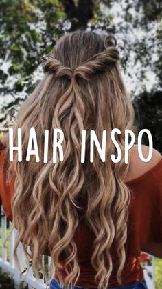 Cute Hairstyles For Short Hair, Ponytail Hairstyles, Girl Hairstyles, School Hairstyles, Medium Hair Styles, Short Hair Styles, Hair Styles With Curls, Hair Inspo, Hair Inspiration