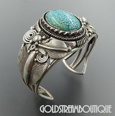 Native American Ben Begaye Navajo Sterling Silver Number 8 Turquoise F – Gold Stream Boutique Navajo Jewelry, Western Jewelry, Jewelry Art, Vintage Jewelry, Jewelry Design, Turquoise Cuff, Turquoise Jewelry, Silver Jewelry, Silver Rings