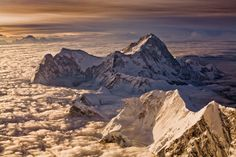 A view of  8,463-meter-high Makalu, taken from Mount Everest at dawn by Harry.Kikstra ..
