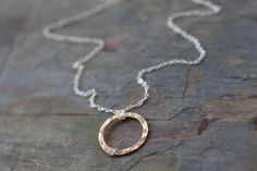 mixed metals circle necklace two tone gold and by greygoosegifts