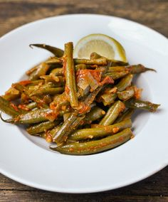 Greek Style Green Beans - nice with fish and baked potatoes