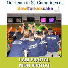 Bowl for Kids Sake isn't about being a good bowler. It's about having a good time and raising money for a good cause. For more information: http://bowl4kids.ca/  #bowlforkidssake #pivotalpayments