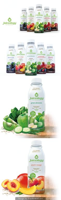 Excellent font choice for product with an effective mark for the logo Juice Ad, Juice Logo, Juice Branding, Organic Packaging, Fruit Packaging, Beverage Packaging, Bottle Packaging, Fruit Drinks, Fruit Trays
