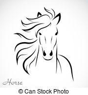 Vector, beeld, paarde