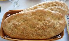 Lagana is a delicious Greek flat-bread traditionally baked on Clean Monday, the first day of Great Lent. Traditionally, Greek Lagana bread is made only with Bread Bun, Flat Bread, Some Recipe, Quick Bread, Mediterranean Recipes, Greek Recipes, Food To Make, Bakery, Food Porn