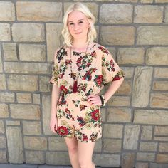 This romper is perfect for your spring break on the beach!! Comment below with PayPal to purchase and ship or comment for 24 hour hold #repurposeboutique#shoprepurpose#repurposemystyle#carthage#boutiquelove#style#trendy#musthaves#obsessed#fashion#spring#springready