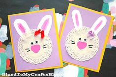 Share The Love - Paper Doily Bunny Easter Cards