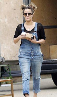 pics for gt celebrities in denim overalls