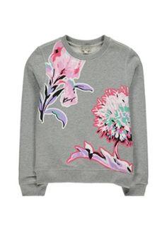 KENZO Sweater met bloemenprint en logoborduring