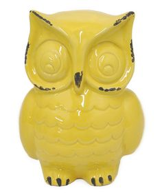 Another great find on #zulily! Yellow Ceramic Owl Decoration #zulilyfinds