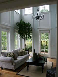 Our kitchen has a high ceiling...love this idea.