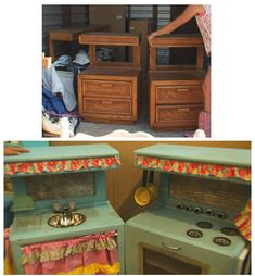 PLAYROOM: Kids Play Kitchens Before and After!