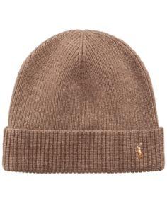 Polo Ralph Lauren Signature Merino Cuffed Beanie - Brown Hats For Men cbf2e8e01765