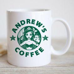Personalised Little Mermaid Mug Starbucks Inspired Disney Mermaid Gift Mug Coffee Mug