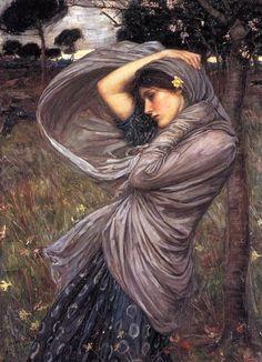 Gedetailleerd schilderij, je ziet elke vouw in haar jurk en omslagdoek. Ook zie je elk sprietje gras, da maakt hem erg gedetailleerd