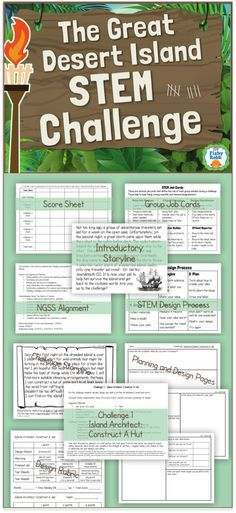 The Great Desert Island STEM Challenge - Save the shipwrecked traveler by completing 5 different STEM activities. A great way to start STEM in your classroom!