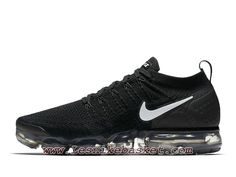 Running Nike Air VaporMax Flyknit 2.0 Black White 942842_001 Chaussures Nike Pas cher Pour HOmme Noires