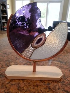 stain glass with agate
