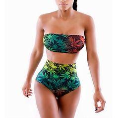 traje de baño atractivo del bodycon de impresión de las mujeres – USD $ 19.79