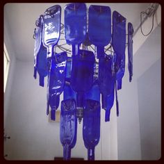 Blueprint Africa: flattened bottle chandelier