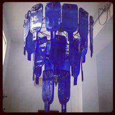 Blueprint Africa: flattened bottle chandelier