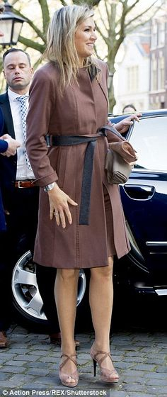 Queen Maxima of The Netherlands visits a debt relief organisation in Leiden | Daily Mail Online