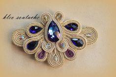 Sutasz Kleo /Soutache jewellery: Ślubny sutasz Almond Soutache Bracelet, Soutache Pendant, Soutache Jewelry, Pendant Earrings, Diy Jewelry, Jewelery, Handmade Jewelry, Jewelry Making, Fashion Jewelry