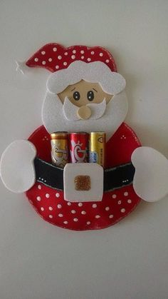 Santa Claus lipstick holder  Joelma Lima Art for Christmas