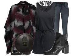 Voilà, une source d'inspiration pour une tenue très tendance et parfaite pour une soirée dans un bar ou un café avec vos amis! Ici: http://stylefru.it/s493394 #tendance #tenue #denim #jean #cardigan