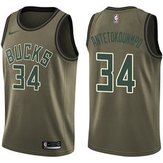 Nike Bucks  34 Giannis Antetokounmpo Green Salute to Service NBA Swingman Jersey  Basketball Jersey bf4665855
