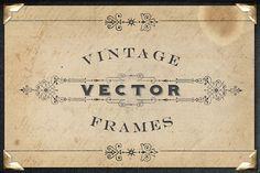Vintage Titling Vector Frames Set 3
