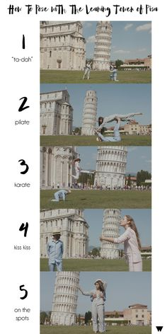 5 Unconventional Ways To Pose With The Leaning Tower of Pisa #Italy #travel #photography #wanderlust