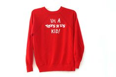 Vintage 80s sweatshirt Toys R Us Kid red rare by 216vintageModern on Etsy