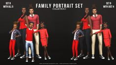 Here is my first collection of poses. There are two sets made for a family of 5 (two adults & 3 kids). The poses aren't perfect, but as time goes on they'll get better and I'll more than likely remake them anyway. As for setting up the poses, just. Family Potrait, Family Portrait Poses, Family Posing, Sims 4 Family, Family Of 5, Sims 4 Children, 3 Kids, Sims 4 Photography, Photography Ideas