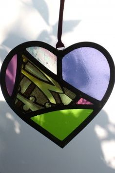 Heart pieces Stained Glass