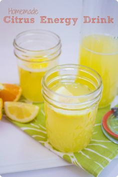 Homemade Citrus Sports Drink recipe. Quick and easy to make, this real food variation on commercial sports drinks will give you the energy and hydration you need to finish your run or workout strong.
